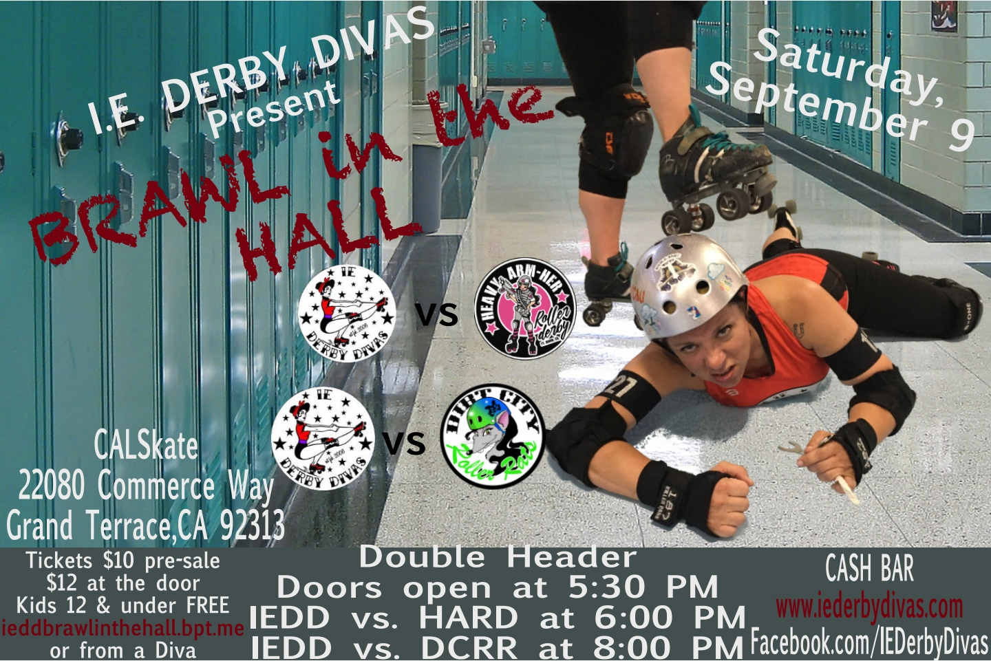 September 9, 2017 IE Derby Divas Brawl in the Hall Flyer