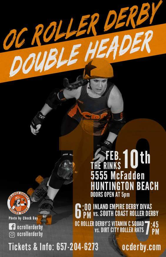 February 10, 2018 - OC Roller Derby Double Header