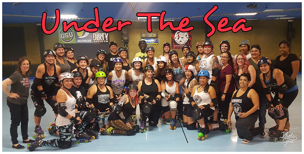 IE Derby Divas August 2017 Under the Sea Group Photo