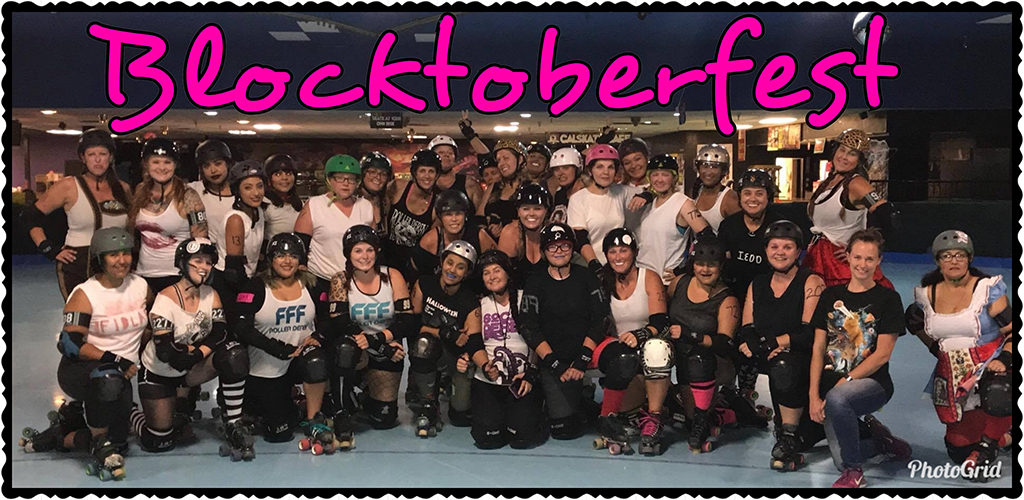 IE Derby Divas October 2017 Blocktoberfest Group Photo